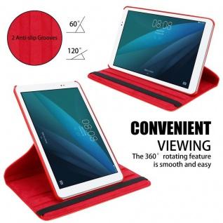 """"""" Cadorabo Tablet Hülle für Huawei MediaPad T1 10 (10, 0"""" Zoll) in MOHN ROT ? Book Style Schutzhülle OHNE Auto Wake Up mit Standfunktion und Gummiband Verschluss"""" - Vorschau 4"""