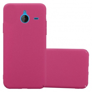 Cadorabo Hülle für Nokia Lumia 640 XL in FROSTY PINK Hardcase Handyhülle aus Plastik gegen Kratzer und Stöße Schutzhülle Bumper Ultra Slim Back Case Hard Cover