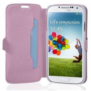 Cadorabo Hülle für Samsung Galaxy S4 - Hülle in ICY ROSE - Handyhülle mit Standfunktion und Kartenfach im Ultra Slim Design - Case Cover Schutzhülle Etui Tasche Book