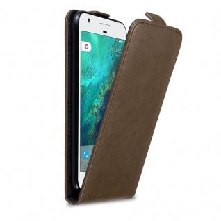 Cadorabo Hülle für Google Pixel in KAFFEE BRAUN Handyhülle im Flip Design mit Magnetverschluss Case Cover Schutzhülle Etui Tasche Book Klapp Style