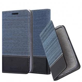 Cadorabo Hülle für WIKO TOMMY 3 in DUNKEL BLAU SCHWARZ - Handyhülle mit Magnetverschluss, Standfunktion und Kartenfach - Case Cover Schutzhülle Etui Tasche Book Klapp Style
