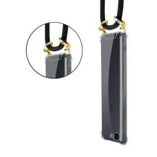 Cadorabo Handy Kette für OnePlus 5 in SCHWARZ Silikon Necklace Umhänge Hülle mit Gold Ringen, Kordel Band Schnur und abnehmbarem Etui Schutzhülle - Vorschau 2