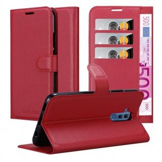 Cadorabo Hülle für Huawei MATE 20 LITE in KARMIN ROT - Handyhülle mit Magnetverschluss, Standfunktion und Kartenfach - Case Cover Schutzhülle Etui Tasche Book Klapp Style