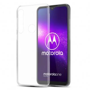 Cadorabo Hülle für Motorola ONE MACRO in VOLL TRANSPARENT - Handyhülle aus flexiblem TPU Silikon - Silikonhülle Schutzhülle Ultra Slim Soft Back Cover Case Bumper