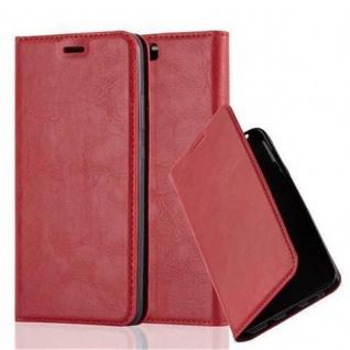 Cadorabo Hülle für Huawei P10 PLUS in APFEL ROT Handyhülle mit Magnetverschluss, Standfunktion und Kartenfach Case Cover Schutzhülle Etui Tasche Book Klapp Style