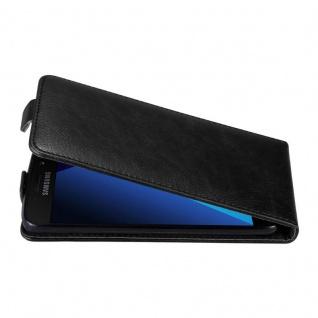 Cadorabo Hülle für Samsung Galaxy A3 2017 in NACHT SCHWARZ - Handyhülle im Flip Design mit unsichtbarem Magnetverschluss - Case Cover Schutzhülle Etui Tasche Book Klapp Style