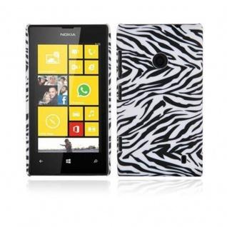 Cadorabo - Hard Cover für Nokia Lumia 520 - Case Cover Schutzhülle Bumper im Design: ZEBRA