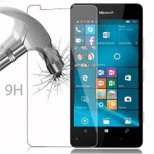 Cadorabo Panzer Folie für Nokia Lumia 950 - Schutzfolie in KRISTALL KLAR - Gehärtetes (Tempered) Display-Schutzglas in 9H Härte mit 3D Touch Kompatibilität - Vorschau 3