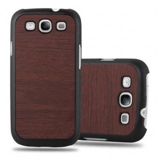 Cadorabo Hülle für Samsung Galaxy S3 / S3 NEO in WOODY KAFFEE ? Hardcase Handyhülle aus Plastik gegen Kratzer und Stöße ? Schutzhülle Bumper Ultra Slim Back Case Hard Cover