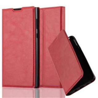Cadorabo Hülle für Sony Xperia L1 in APFEL ROT Handyhülle mit Magnetverschluss, Standfunktion und Kartenfach Case Cover Schutzhülle Etui Tasche Book Klapp Style