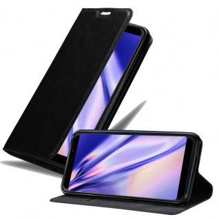 Cadorabo Hülle für WIKO VIEW MAX in NACHT SCHWARZ Handyhülle mit Magnetverschluss, Standfunktion und Kartenfach Case Cover Schutzhülle Etui Tasche Book Klapp Style
