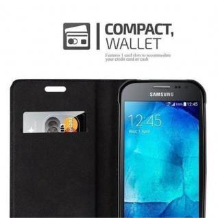 Cadorabo Hülle für Samsung Galaxy XCover 3 in CAPPUCCINO BRAUN - Handyhülle mit Magnetverschluss, Standfunktion und Kartenfach - Case Cover Schutzhülle Etui Tasche Book Klapp Style - Vorschau 3