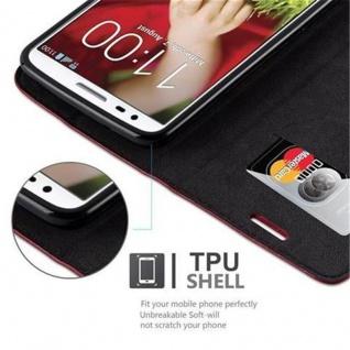 Cadorabo Hülle für LG G2 in APFEL ROT Handyhülle mit Magnetverschluss, Standfunktion und Kartenfach Case Cover Schutzhülle Etui Tasche Book Klapp Style - Vorschau 3
