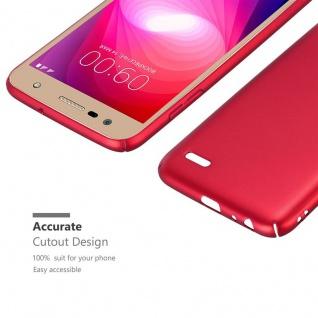 Cadorabo Hülle für LG X Power 2 in METALL ROT ? Hardcase Handyhülle aus Plastik gegen Kratzer und Stöße ? Schutzhülle Bumper Ultra Slim Back Case Hard Cover - Vorschau 5