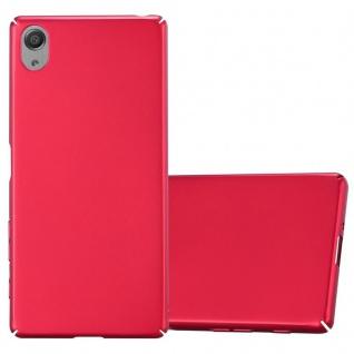 Cadorabo Hülle für Sony Xperia X in METALL ROT - Hardcase Handyhülle aus Plastik gegen Kratzer und Stöße - Schutzhülle Bumper Ultra Slim Back Case Hard Cover