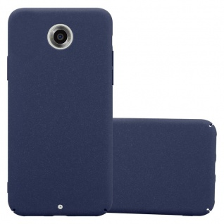 Cadorabo Hülle für Motorola NEXUS 6 in FROSTY BLAU - Hardcase Handyhülle aus Plastik gegen Kratzer und Stöße - Schutzhülle Bumper Ultra Slim Back Case Hard Cover