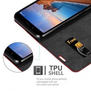 Cadorabo Hülle für Xiaomi RedMi 7A in APFEL ROT Handyhülle mit Magnetverschluss, Standfunktion und Kartenfach Case Cover Schutzhülle Etui Tasche Book Klapp Style - Vorschau 5