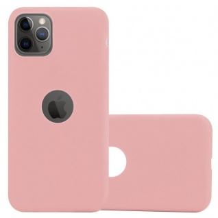Cadorabo Hülle für Apple iPhone 11 PRO MAX (XI PRO MAX) in CANDY ROSA - Handyhülle aus flexiblem TPU Silikon - Silikonhülle Schutzhülle Ultra Slim Soft Back Cover Case Bumper