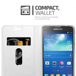 Cadorabo Hülle für Samsung Galaxy S4 Active in CLASSY SILBER - Handyhülle mit Magnetverschluss, Standfunktion und Kartenfach - Case Cover Schutzhülle Etui Tasche Book Klapp Style - Vorschau 3