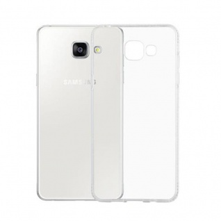 Cadorabo Hülle für Samsung Galaxy A5 2016 (6) - Hülle in TRANSPARENT WEIß - Handyhülle aus TPU Silikon im Strass Design - Silikonhülle Schutzhülle Ultra Slim Soft Back Cover Case Bumper - Vorschau 3