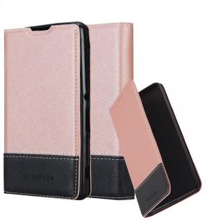 Cadorabo Hülle für Sony Xperia M5 in ROSÉ GOLD SCHWARZ - Handyhülle mit Magnetverschluss, Standfunktion und Kartenfach - Case Cover Schutzhülle Etui Tasche Book Klapp Style