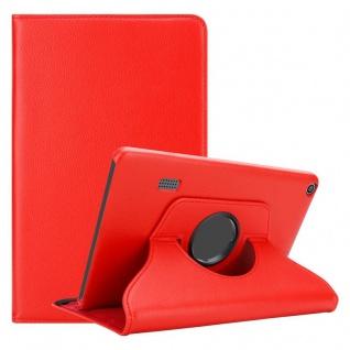 """Cadorabo Tablet Hülle für Huawei MediaPad T3 7 (7, 0"""" Zoll) in MOHN ROT Book Style Schutzhülle OHNE Auto Wake Up mit Standfunktion und Gummiband Verschluss"""