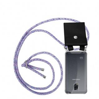 Cadorabo Handy Kette für Samsung Galaxy NOTE 4 in UNICORN - Silikon Necklace Umhänge Hülle mit Silber Ringen, Kordel Band Schnur und abnehmbarem Etui - Schutzhülle