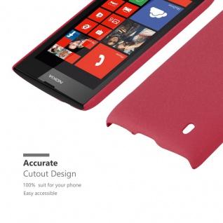 Cadorabo Hülle für Nokia Lumia 520 in FROSTY ROT - Hardcase Handyhülle aus Plastik gegen Kratzer und Stöße - Schutzhülle Bumper Ultra Slim Back Case Hard Cover - Vorschau 5