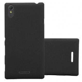 Cadorabo Hülle für Sony Xperia T3 in FROSTY SCHWARZ - Hardcase Handyhülle aus Plastik gegen Kratzer und Stöße - Schutzhülle Bumper Ultra Slim Back Case Hard Cover