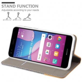Cadorabo Hülle für Huawei Y6 PRO 2017 in HELL GRAU BRAUN - Handyhülle mit Magnetverschluss, Standfunktion und Kartenfach - Case Cover Schutzhülle Etui Tasche Book Klapp Style - Vorschau 4