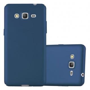 Cadorabo Hülle für Samsung Galaxy GRAND PRIME in METALL BLAU ? Hardcase Handyhülle aus Plastik gegen Kratzer und Stöße ? Schutzhülle Bumper Ultra Slim Back Case Hard Cover