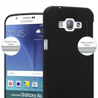 Cadorabo Hülle für Samsung Galaxy A8 2015 in FROST SCHWARZ - Handyhülle aus flexiblem TPU Silikon - Silikonhülle Schutzhülle Ultra Slim Soft Back Cover Case Bumper - Vorschau 5
