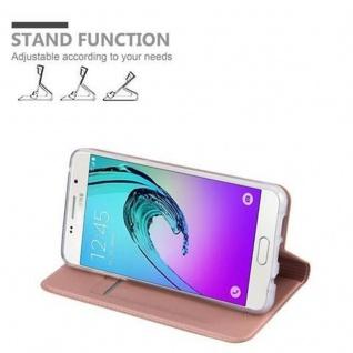 Cadorabo Hülle für Samsung Galaxy A5 2016 in CLASSY ROSÉ GOLD - Handyhülle mit Magnetverschluss, Standfunktion und Kartenfach - Case Cover Schutzhülle Etui Tasche Book Klapp Style - Vorschau 4