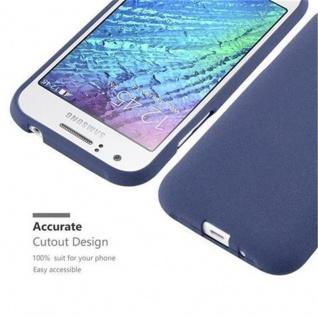 Cadorabo Hülle für Samsung Galaxy J1 2015 in FROST DUNKEL BLAU - Handyhülle aus flexiblem TPU Silikon - Silikonhülle Schutzhülle Ultra Slim Soft Back Cover Case Bumper - Vorschau 2