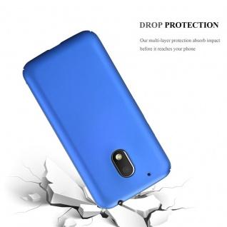 Cadorabo Hülle für Motorola MOTO G4 PLAY in METALL BLAU - Hardcase Handyhülle aus Plastik gegen Kratzer und Stöße - Schutzhülle Bumper Ultra Slim Back Case Hard Cover - Vorschau 3