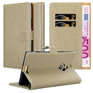 Cadorabo Hülle für Nokia Lumia 1520 in CAPPUCCINO BRAUN ? Handyhülle mit Magnetverschluss, Standfunktion und Kartenfach ? Case Cover Schutzhülle Etui Tasche Book Klapp Style