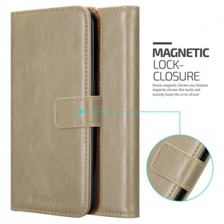 Cadorabo Hülle für HTC Desire 10 Lifestyle / Desire 825 in CAPPUCCINO BRAUN - Handyhülle mit Magnetverschluss, Standfunktion und Kartenfach - Case Cover Schutzhülle Etui Tasche Book Klapp Style - Vorschau 2