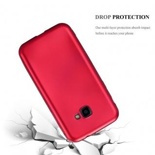 Cadorabo Hülle für Samsung Galaxy Xcover 4 in METALLIC ROT - Handyhülle aus flexiblem TPU Silikon - Silikonhülle Schutzhülle Ultra Slim Soft Back Cover Case Bumper - Vorschau 3