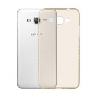 Cadorabo Hülle für Samsung Galaxy GRAND PRIME - Hülle in TRANSPARENT GOLD ? Handyhülle aus TPU Silikon im Strass Design - Silikonhülle Schutzhülle Ultra Slim Soft Back Cover Case Bumper - Vorschau 2