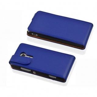Cadorabo Hülle für Sony Xperia SP in KÖNIGS BLAU - Handyhülle im Flip Design aus strukturiertem Kunstleder - Case Cover Schutzhülle Etui Tasche Book Klapp Style - Vorschau 2