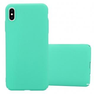 Cadorabo Hülle für Apple iPhone XS MAX in FROSTY GRÜN - Hardcase Handyhülle aus Plastik gegen Kratzer und Stöße - Schutzhülle Bumper Ultra Slim Back Case Hard Cover