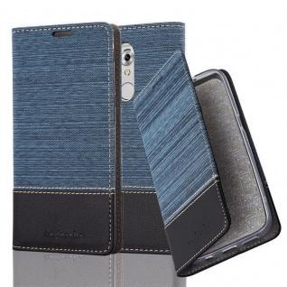 Cadorabo Hülle für ZTE Axon 7 MINI in DUNKEL BLAU SCHWARZ - Handyhülle mit Magnetverschluss, Standfunktion und Kartenfach - Case Cover Schutzhülle Etui Tasche Book Klapp Style
