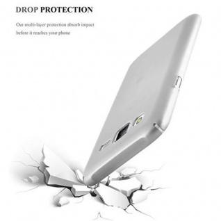 Cadorabo Hülle für Samsung Galaxy J5 2015 in METALL SILBER - Hardcase Handyhülle aus Plastik gegen Kratzer und Stöße - Schutzhülle Bumper Ultra Slim Back Case Hard Cover - Vorschau 5