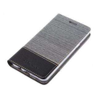 Cadorabo Hülle für Samsung Galaxy A5 2016 in GRAU SCHWARZ - Handyhülle mit Magnetverschluss, Standfunktion und Kartenfach - Case Cover Schutzhülle Etui Tasche Book Klapp Style - Vorschau 3