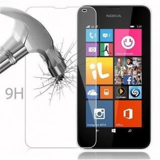 Cadorabo Panzer Folie für Nokia Lumia 532 - Schutzfolie in KRISTALL KLAR - Gehärtetes (Tempered) Display-Schutzglas in 9H Härte mit 3D Touch Kompatibilität - Vorschau 4