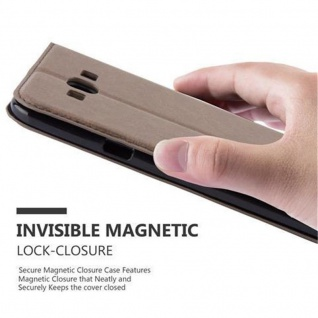 Cadorabo Hülle für Samsung Galaxy A8 2015 in KAFFEE BRAUN - Handyhülle mit Magnetverschluss, Standfunktion und Kartenfach - Case Cover Schutzhülle Etui Tasche Book Klapp Style - Vorschau 5