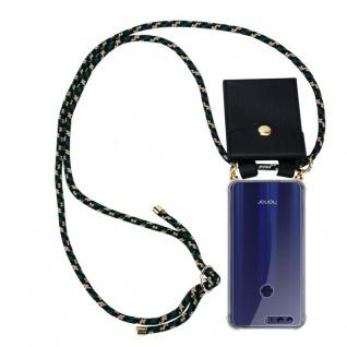 Cadorabo Handy Kette für Honor 8 / Honor 8 Premium in CAMOUFLAGE Silikon Necklace Umhänge Hülle mit Gold Ringen, Kordel Band Schnur und abnehmbarem Etui Schutzhülle