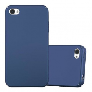 Cadorabo Hülle für Apple iPhone 4 / iPhone 4S in METALL BLAU - Hardcase Handyhülle aus Plastik gegen Kratzer und Stöße - Schutzhülle Bumper Ultra Slim Back Case Hard Cover