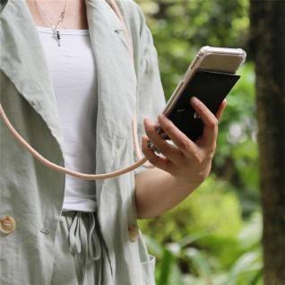 Cadorabo Handy Kette für OnePlus 6T in PERLIG ROSÉGOLD Silikon Necklace Umhänge Hülle mit Silber Ringen, Kordel Band Schnur und abnehmbarem Etui Schutzhülle - Vorschau 4