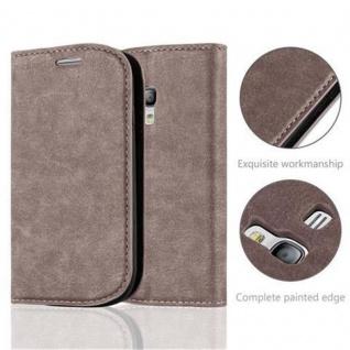 Cadorabo Hülle für Samsung Galaxy S3 MINI in KAFFEE BRAUN - Handyhülle mit Magnetverschluss, Standfunktion und Kartenfach - Case Cover Schutzhülle Etui Tasche Book Klapp Style - Vorschau 2